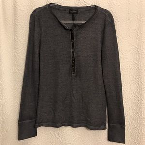 Lucky Brand Long Sleeve Distressed Top (Large)